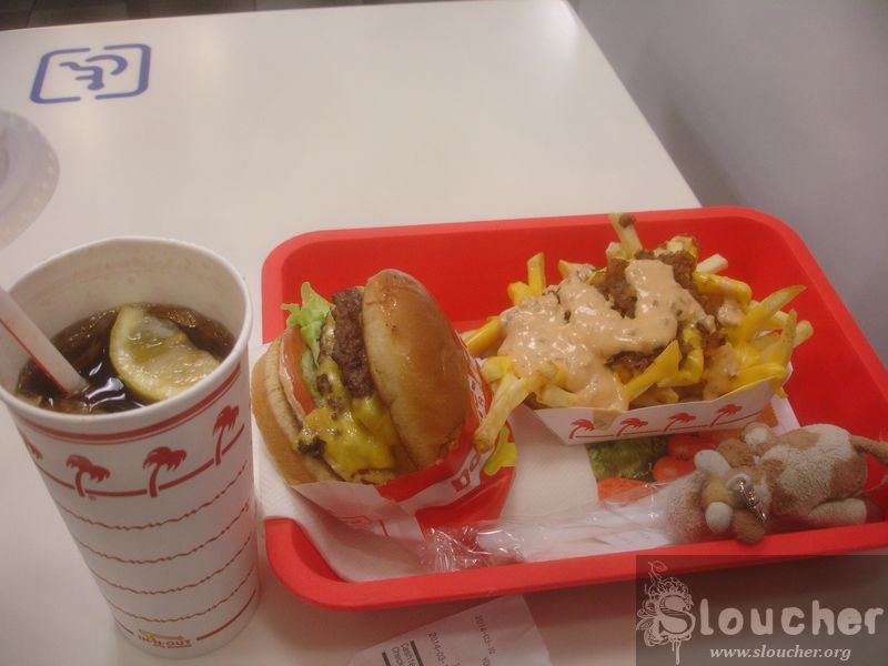 In 'n' Out. Glorious.