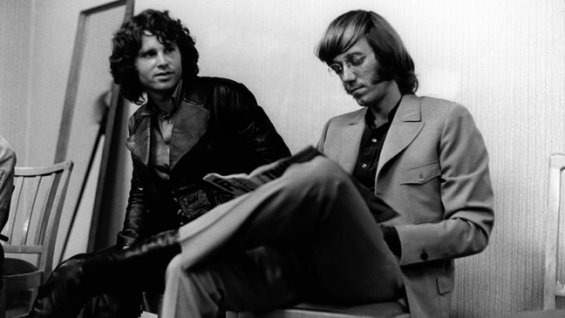 Ray Manzarek and Jim Morrison